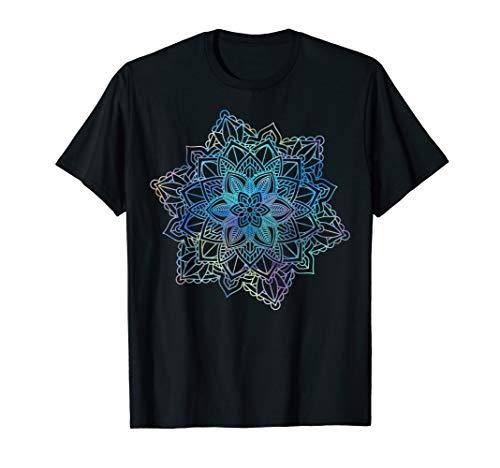 Watercolor Mandala Sacred Fractal Geometry Art Good Vibe T-Shirt