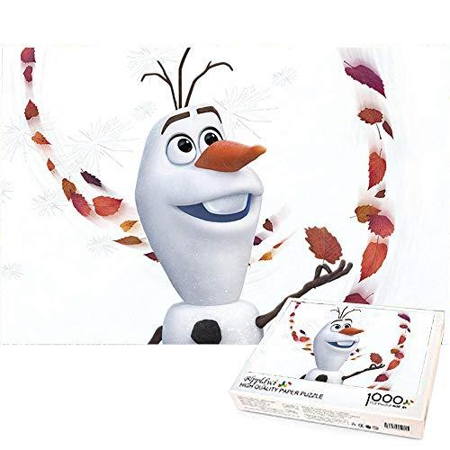1000 Piezas de Rompecabezas para Adultos Rompecabezas Olaf Niños Adultos Rompecabezas de descompresión Decoración del hogar Regalo Creativo 70x50cm-Frozen