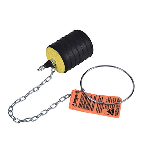 Cherne 276348 3 in-4 in. Multi-Size Test-Ball Plug, Black, 3...