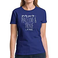 Eddany Simplify your life peace love and Trixie - レディースTシャツ