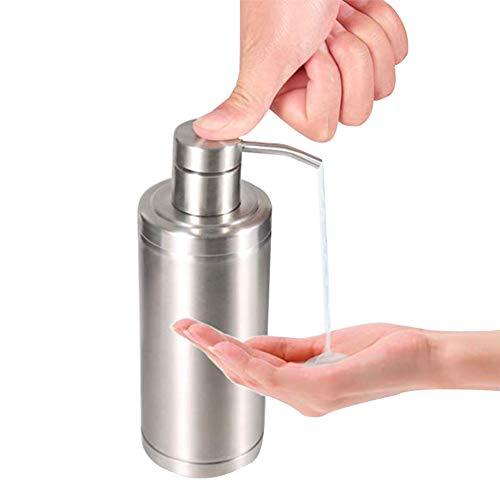 現代のカウンタートップソープディスペンサー浴室詰め替え可能な液体石鹸ポンプコンパクトステンレス鋼ソープディスペンサー寝室用、キッチンの流し