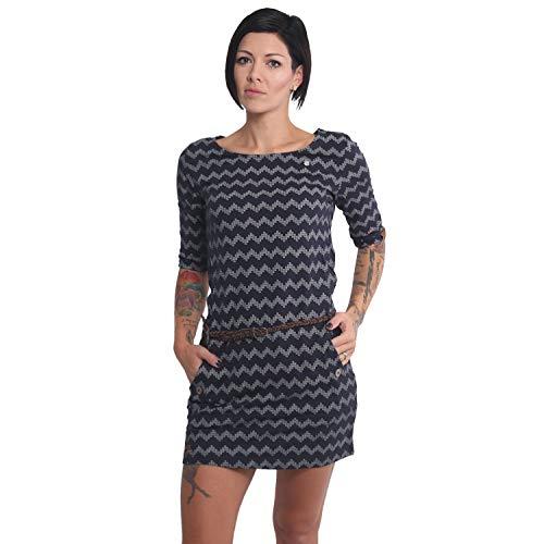 Ragwear Kleid Tanya Zig Zag Dress, Navy, S
