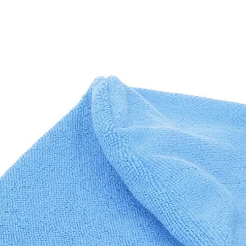 Pwshymi Toalla para el Cabello Wrap Toalla de Secado rápido Sombrero para el Cabello seco Gorro de baño Envuelto en Microfibra Hoteles para Gimnasio(Light Blue)
