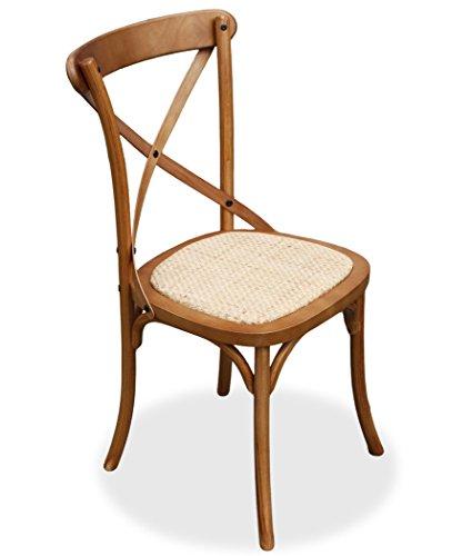 KMH®, Esszimmerstuhl Paris Eiche Finish mit Rattan-Sitzfläche (#800162)