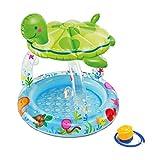 Aufblasbare Badewanne WHQ Baby Schwimmbad schildkröte Sonnenschirm badewanne Spielzeug Schwimmbad Marine Ball aufblasbare Schwimmbad (geben kleine luftpumpe) QD (Color : A)