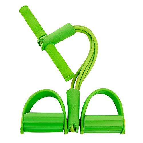 YXXSJB Pedal Muskel Stretching Trainingsgerät Home Fitness Yoga Muskeltraining Unisex Yoga Ausrüstung Grun 4 Tube + Yogamatte
