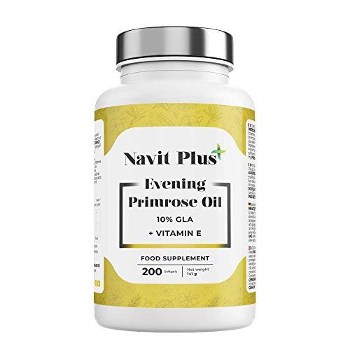 Aceite de Onagra 10% GLA + Vitamina E NAVIT PLUS | 200 perla