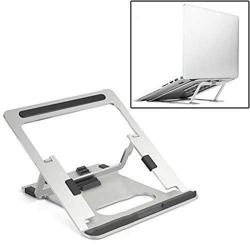 Multi-Angle Adjustable Laptop Stand, Portable Ventilated Portable Ergonomic Notebook Riser Anti-Slip Mount, Aluminum Travel Lifting Folding Heat Dissipation Storage,A