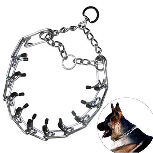 Pet supplies Collar de Cadena de estimulación de Hierro para Mascotas, Collar antichoque para Perro, Cadena de Perro Grande para Entrenamiento