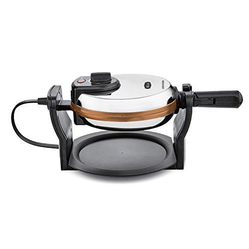 BELLA Copper Titanium Coated Rotating Belgian Waffle Maker, Stainless 1000 Watt 14608