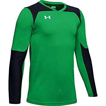Under Armour Boys  Threadborne Wall Goalkeeper Jersey  Putting Green  753 /White  Youth X-Large