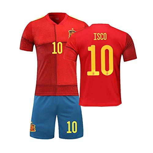 PAOFU-Camisetas De Fútbol para Hombres 10# ISCO Fan,Copa De
