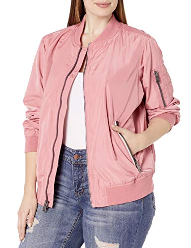 Levi's Ladies Outerwear Women's Plus Size Bomber Jacket, Rose, 3 X