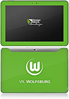 DeinDesign Samsung Galaxy Tab 10.1 Folie Skin Sticker aus Vinyl-Folie Aufkleber VFL Wolfsburg Fanartikel Fußball