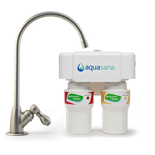 Aquasana 2-Stage Under Sink Water Filter System with Brushed Nickel Faucet