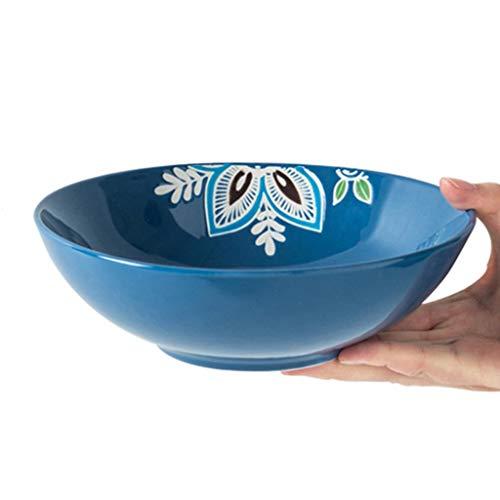 YNHNI 7,5 Pulgadas Bowl cerámica Pintado a Mano Ensalada de Pasta vajilla Tang Placa Olla hogar (Color : 8inch)