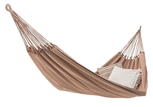 ECOMUNDY Pure Bio XXL 380 beige - Luxus Hängematte - 2 Personen - Handgewebt - Bio Baumwolle - GOTS - 160x260x380cm