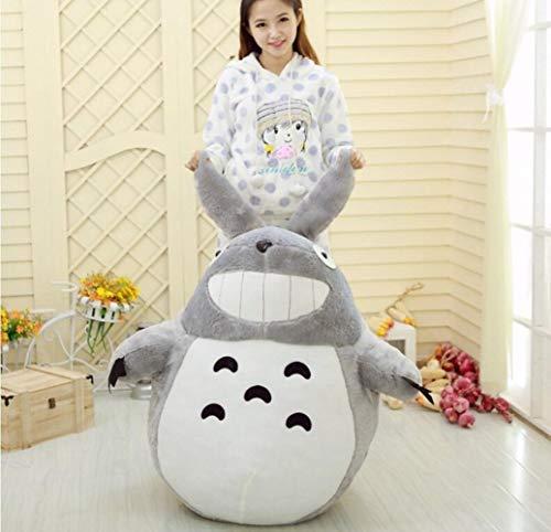 Junsansir 1 Stücke 50cm Berühmte Cartoon Totoro Plüschtiere Lächelnde Weiche Stofftiere Hohe Qualität Puppen Neupreis Dekoration Geschenk,Offenen Mund,50cm