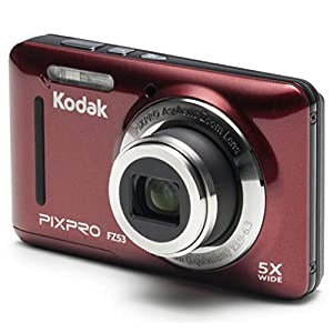"""Kodak PIXPRO Friendly Zoom FZ53-RD 16MP Digital Camera with 5X Optical Zoom and 2.7"""" LCD Screen (Red) by JK Imaging Ltd"""