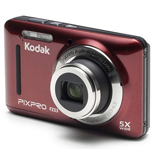 Kodak PIXPRO Friendly Zoom FZ53-RD 16MP Digital Camera with 5X Optical Zoom and 2.7'...