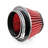 SHOUNAO Universal Deportes Aire 115mm Filtro de Coches Ingesta Reutilizable Modificado MC20S0227 Filtro Lavable de Seta Aire Auto (Color : Red)