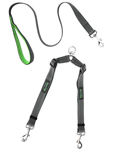 Mighty Paw Double Dog Leash - Our Two Dog Lead is Adjustable and Tangle Free. Customize The Length of Each Lead for Convenient Leash Walking. Works for Both Small and Large Dogs.