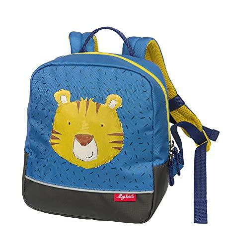 SIGIKID 25202 Mini Rucksack Tiger Bags Mädchen und Jungen Kinderrucksack empfohlen ab 2 Jahren blau