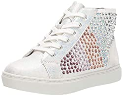 White Flats With Multi-Colour Rhinestones Jstarrng Sneaker