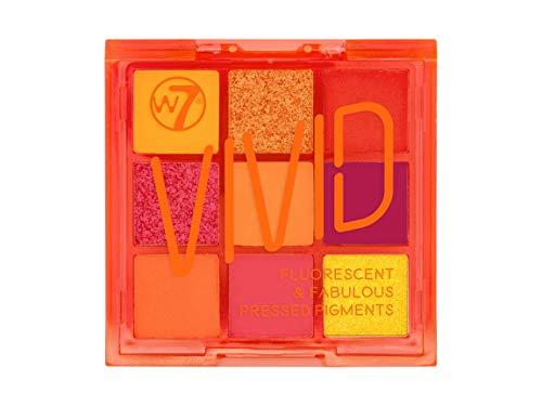 W7   Pressed Pigment Palette   Vivid Pressed Pigment Palette - Outrageous Orange   9 Shades