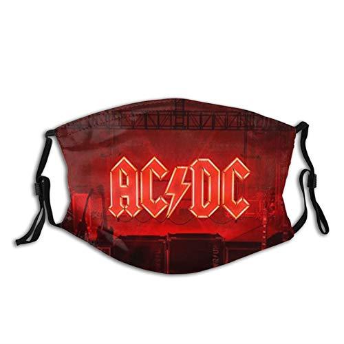 Acdc Power Up Pasamontañas protector bucal máscara de cuello polaina a prueba de polvo bufanda bandanas al aire libre con 2 filtros