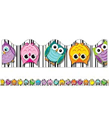 Colorful Owls Borders