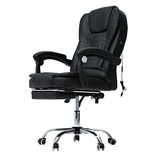 Sfeomi Massagesessel Chefsessel Massage Stuhl Massage Bürostuhl mit Massagefunktion Gaming Stuhl Höhenverstellbarer Chefsessel Schreibtischstuhl Drehstuhl Sessel Stuhl (mit Fußstütze)