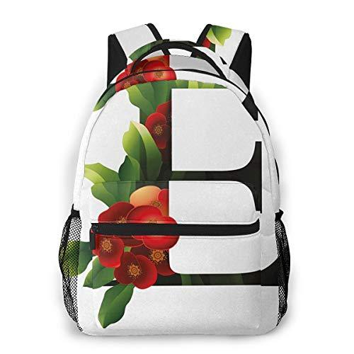 Rucksack Männer Und Damen, Laptop Rucksäcke für 14 Zoll Notebook, Euphorbia Kronenblume Kinderrucksack Schulrucksack Daypack für Herren Frauen