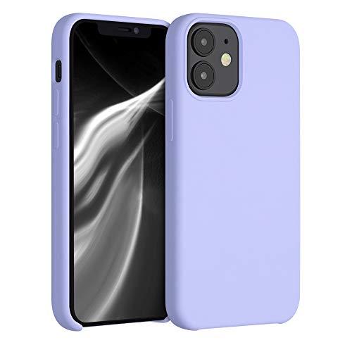 kwmobile Cover Compatibile con Apple iPhone 12 Mini - Cover Custodia in Silicone TPU - Back Case Protezione Cellulare Lavanda Pastello