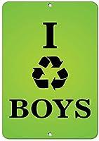 私は男の子スタイル1おかしい引用アルミニウム金属看板をリサイクルします。