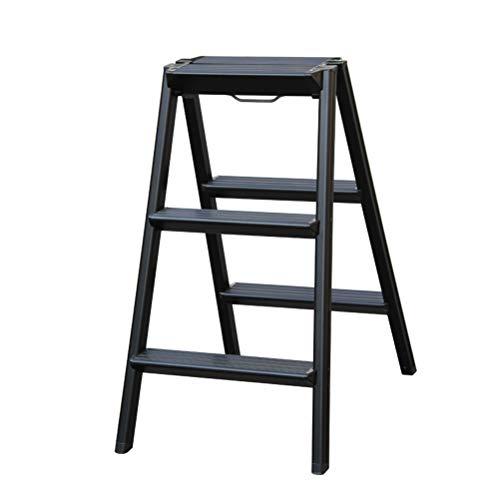AMBH trapladder, opvouwbaar, lichtgewicht, ladder, draagbaar, vouwbare drietrapladder, kruk, huishouden, kruk, metalen rek 3.14