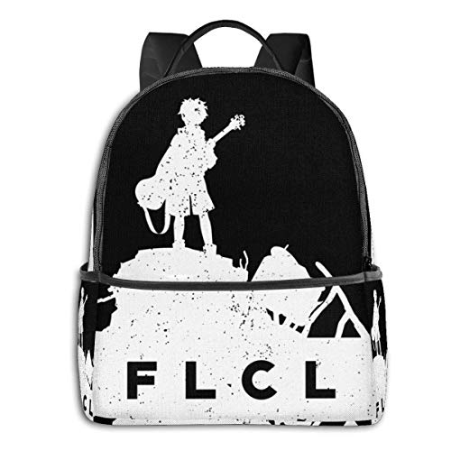 IUBBKI Mochila lateral negra Mochilas informales Anime & F L C L White Classic Student School Bag School Cycling Leisure Travel Camping Outdoor Backpack