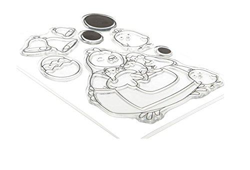 Artemio 10040061 set met 7 stempels, siliconen, zwart, 11 x 0,3 x 23 cm