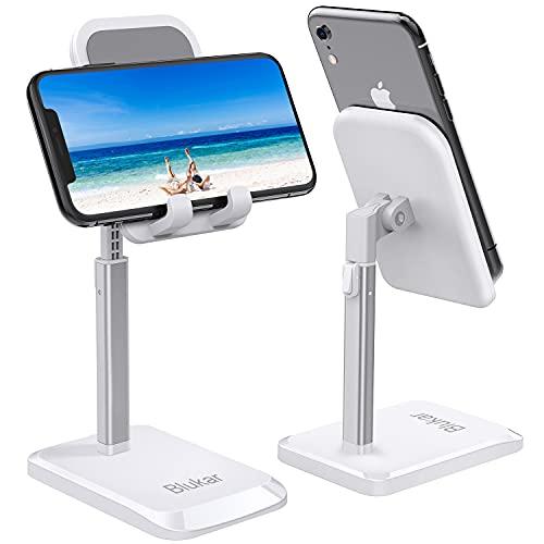 Blukar Soporte Móvil, Ajustable Soporte Teléfono Mesa Portátil con Almohadilla de Silicona Antideslizante Soporte Dock Base Ideal para Teléfono Móvil Phone, Android y Tablet