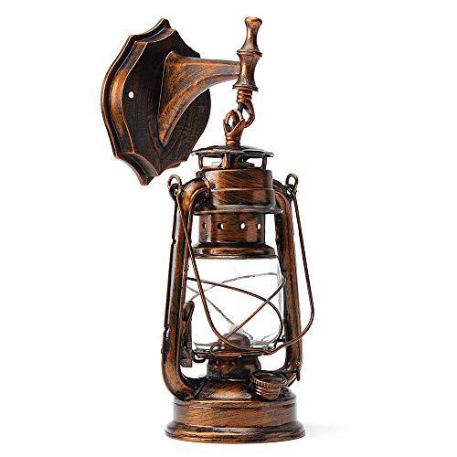 wandlampe retro metall antik wandleuchte vintage lampen landhausstil für landhaus schlafzimmer wohnzimmer esstisch glas, dachboden, terrasse, restaurant, café (C)