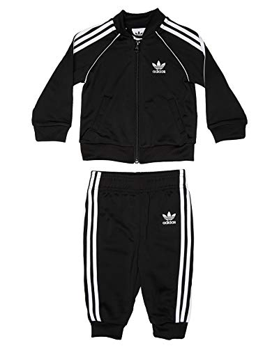 adidas Superstar Suit Trainingsanzug, Unisex Kinder L schwarz/weiß