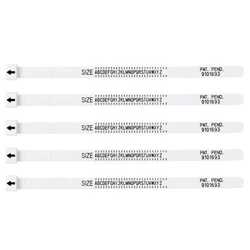 inhzoy US/UK Multisizer Ringgrößenmesser Ringmaßband Kunststoff Ringmaß Schmuck Ring Messung Werkzeug Weiß US