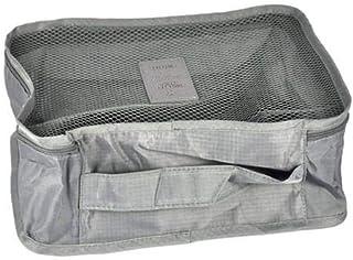 6 قطع مجموعة النساء السفر قدرة عالية الأمتعة الملابس مرتب الحقيبة حقيبة المحمولة للماء حالة التخزين المنظمون رمادي