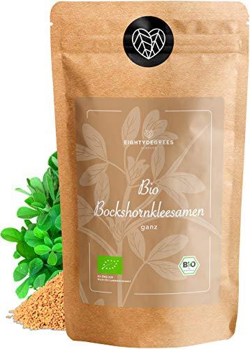 BIO Bockshornkleesamen - Bockshornklee Samen Tee - naturbelassen, als Tee oder Gewürz - Fenugreek Seeds - Premium Bio-Qualität - per Hand geprüft und abgefüllt in Deutschland | 80DEGREES (500g)