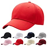 Interstellar Fire Baseball Cap Men Women - Classic Adjustable Plain Hat (Scarlet)