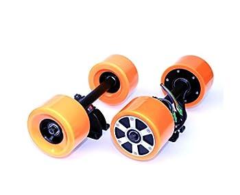 L-faster Electronic Longboard Hub Motor Kit Skateboard Brushless Motor Wheel with Truck Electric Board Dual Motor Drive Remote Controller  Dual Drive