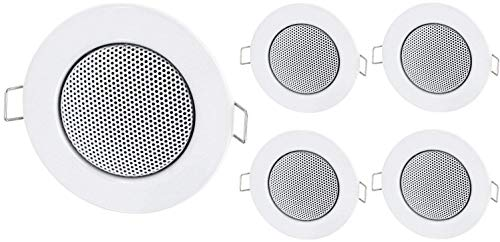 5-pack - inbouw mini luidspreker volledig metalen plafondluidspreker - halogeen-ontwerp - wit