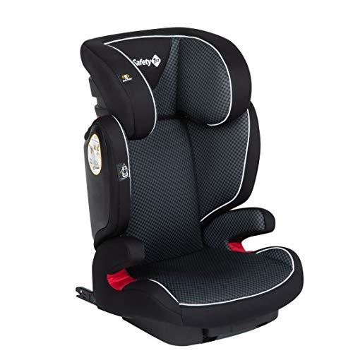 Safety 1st 8765830000 Safety 1st Road Fix-Kindersitz, Gruppe 2/3, praktischer Autositz mit ISOFIX-Installation, höhenverstellbar, nutzbar ab 3-12 Jahre, ca. 15-36 kg, Pixel Black, Pixel Black