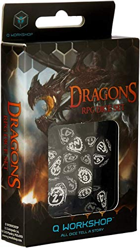 Dés de jeux blanche & noir de Dragons