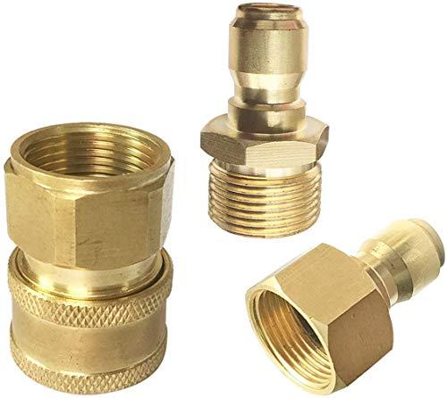Hogedrukreiniger Snelkoppeling mannelijk vrouwelijk Hogedrukreiniger passend 3/8 ring snelkoppeling adapter,A